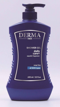 Sữa Tắm Nam - Derma Shower Gel Daily Care + Aquatic Fragrance Soap Free All Skin Types