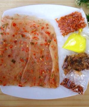 Bánh tráng dẻo tôm bơ - Đặc sản Tây Ninh