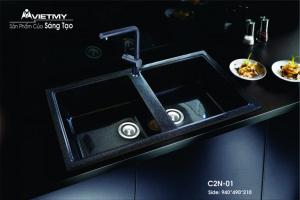 Chậu rửa đá nhân tạo mã C Việt Mỹ Model C2N-01
