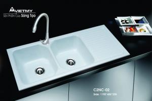 Chậu rửa đá nhân tạo mã C Việt Mỹ Model C2NC-02